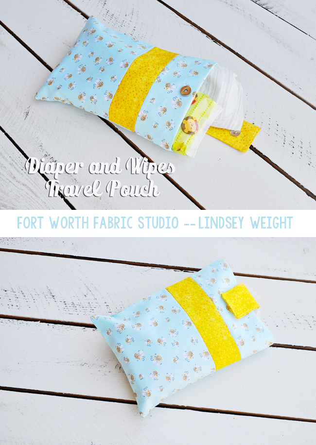 Diaper and Wipes Travel Pouch  from Fort Worth Fabric Studio
