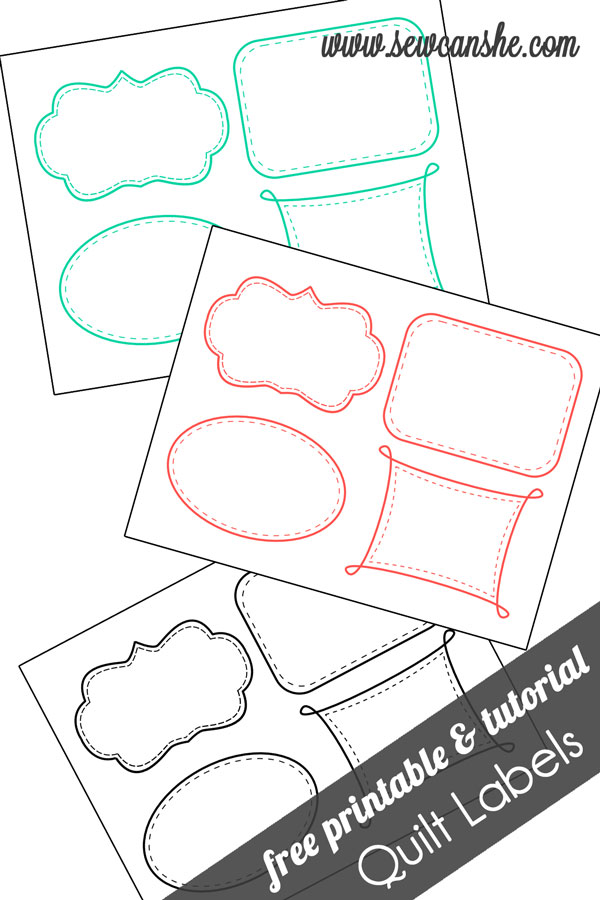 picture about Quilt Templates Printable known as Quilt Labels! free of charge printable SewCanShe No cost Sewing
