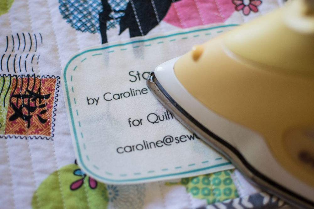 photograph relating to Free Printable Quilt Templates known as Quilt Labels! no cost printable SewCanShe Absolutely free Sewing