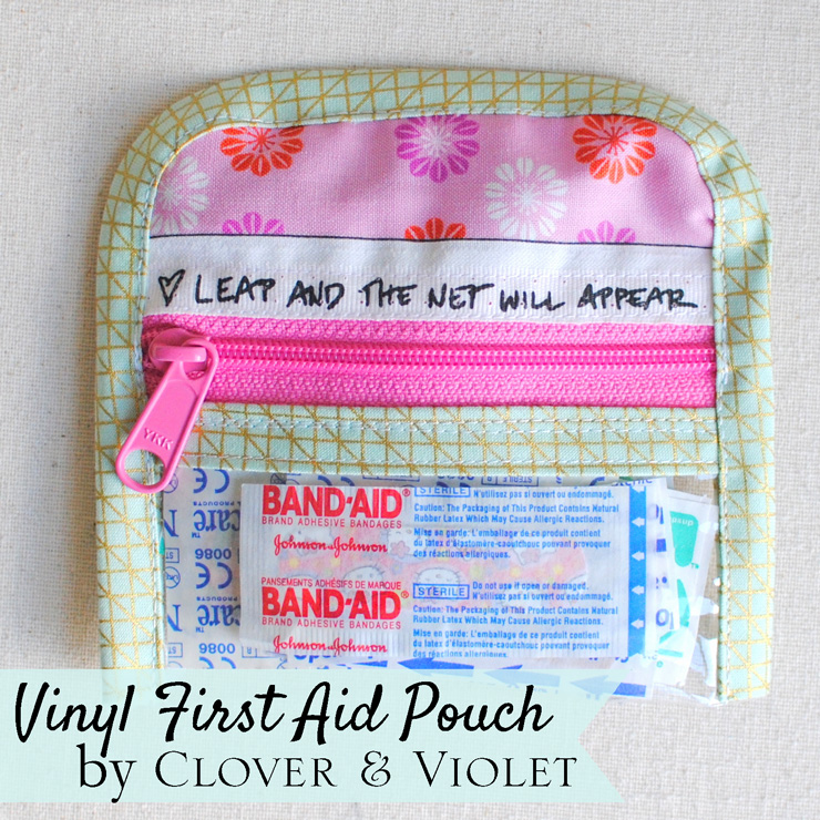 Vinyl First Aid Pouch from Clover and Violet