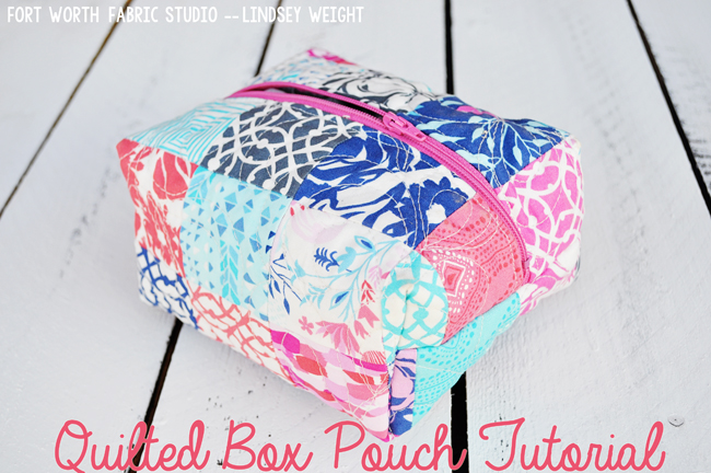 Quilted Box Pouch from Fort Worth Fabric Studio
