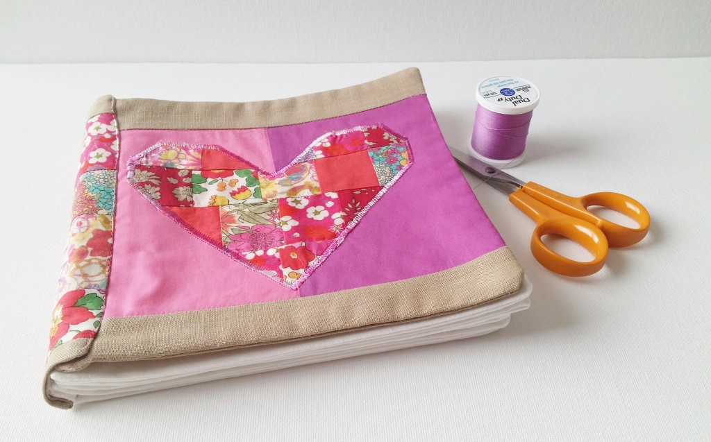 DIY Liberty Fabric Book Tutorial  from Mad For Fabric