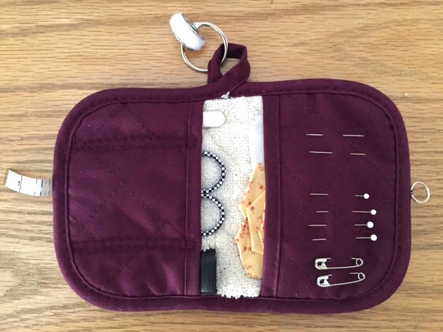 How to Turn a Potholder into a Sewing Kit from Sew Many Ways