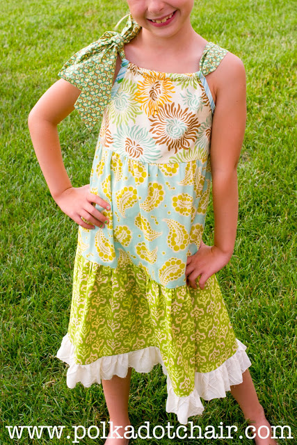 Tiered Pillowcase Dress from Polka Dot Chair