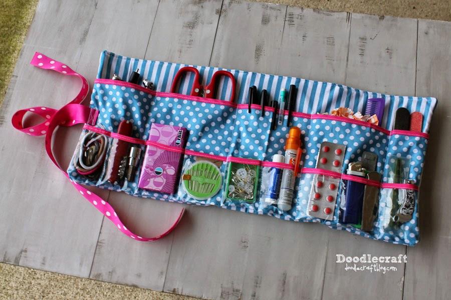 Roll Up Glove-box Essentials Caddy from Doodlecraft