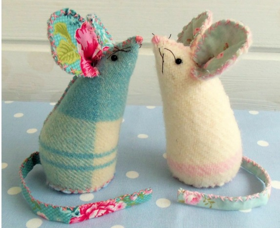 Pincushion Mice from Bustle and Sew