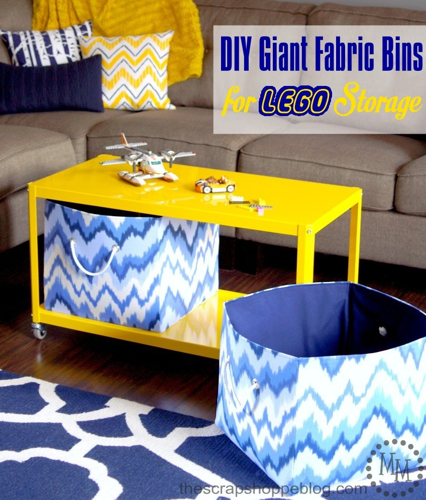 DIY Giant Fabric Bins for LEGO Storage from The Scrap Shoppe