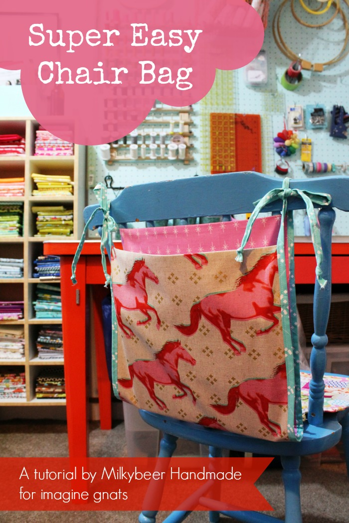 super easy chair bag tutorial from Imagine Gnats