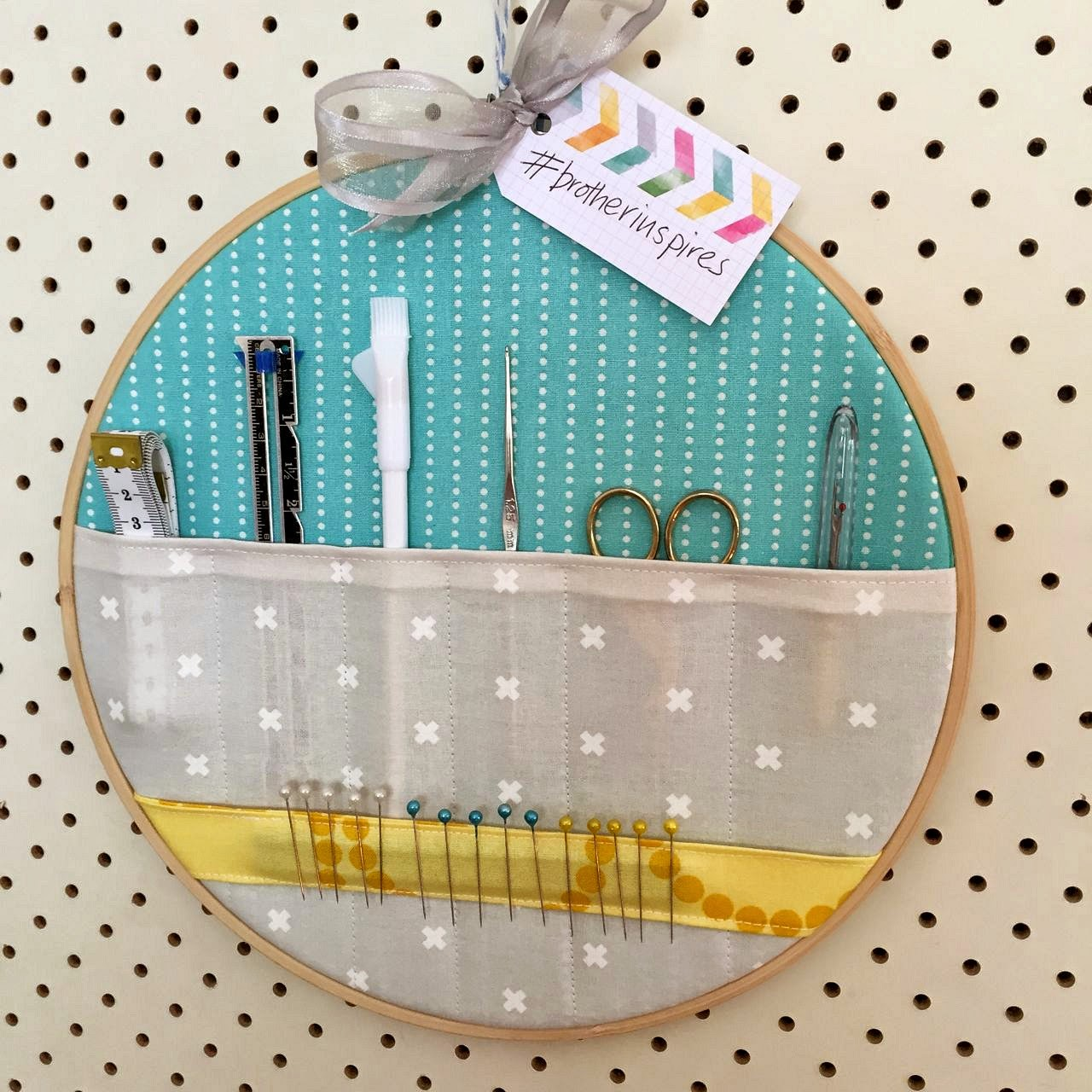 Embroidery Hoop Storage Pockets from Sew Delicious