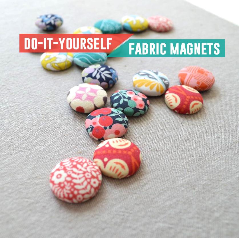 DIY Fabric Scrap Magnet Tutorial from andrea's notebook