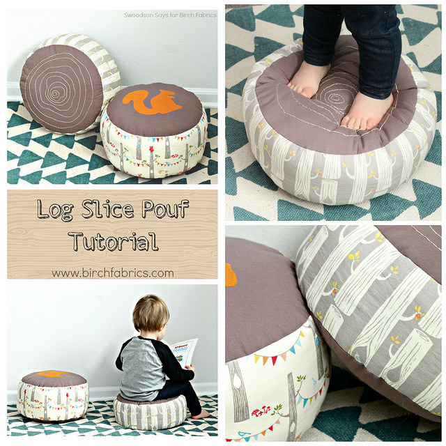 Log Slice Pouf Tutorial from the Birch Blog