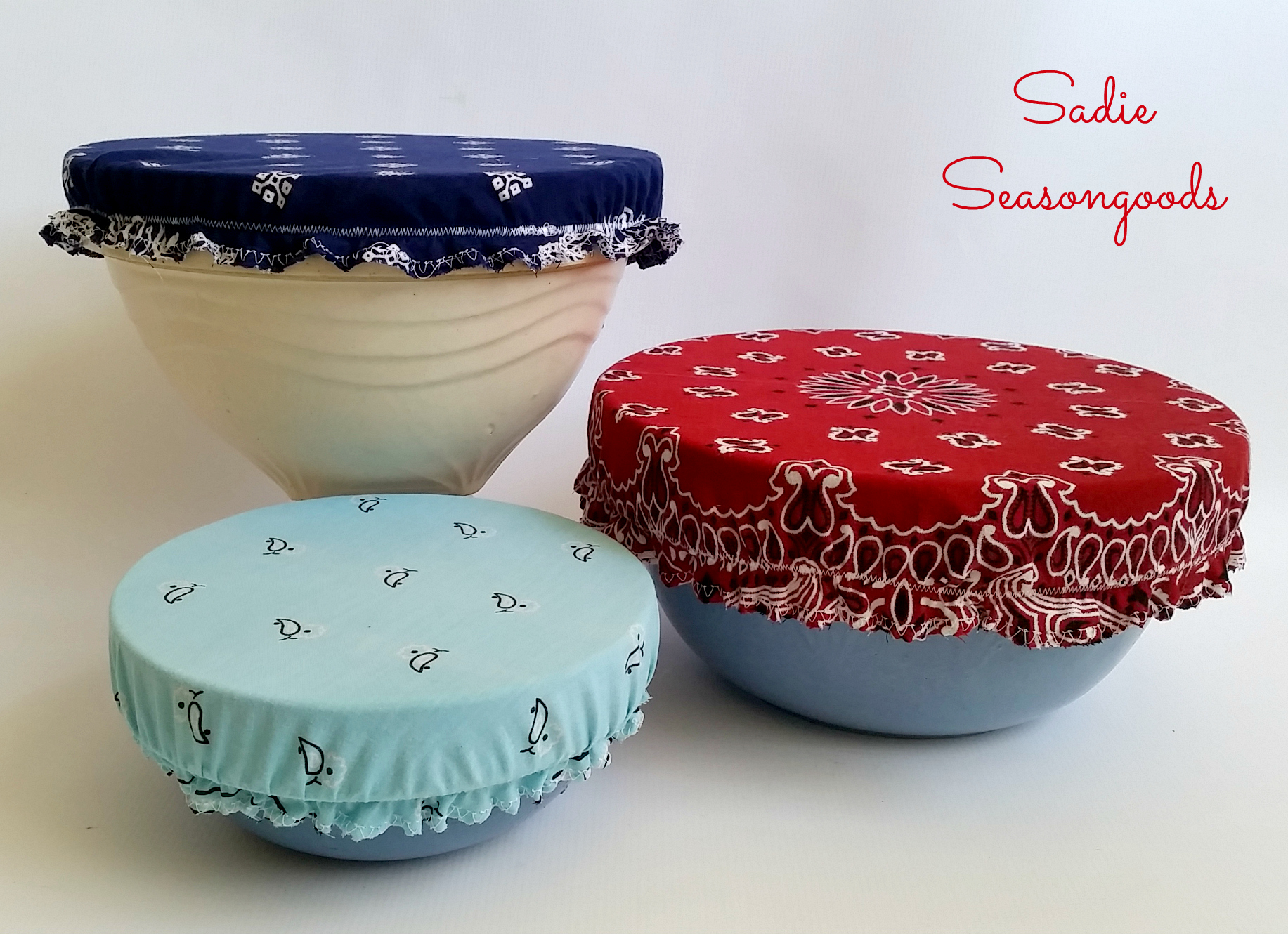 vintage cute bowl covers