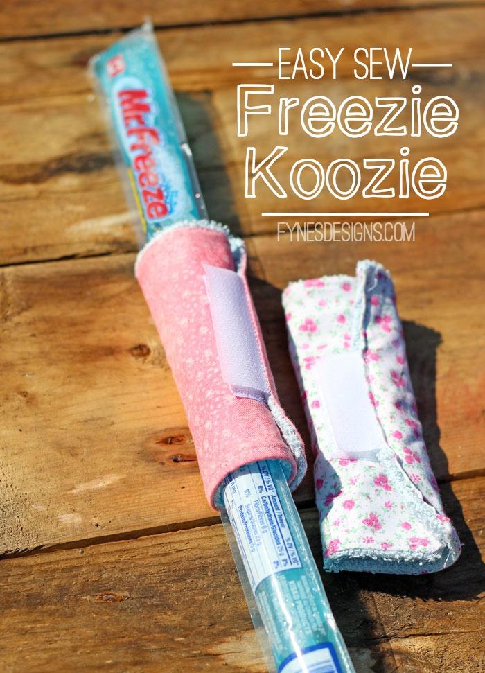 Easy Sew Freezie Koozies from Fynes Designs