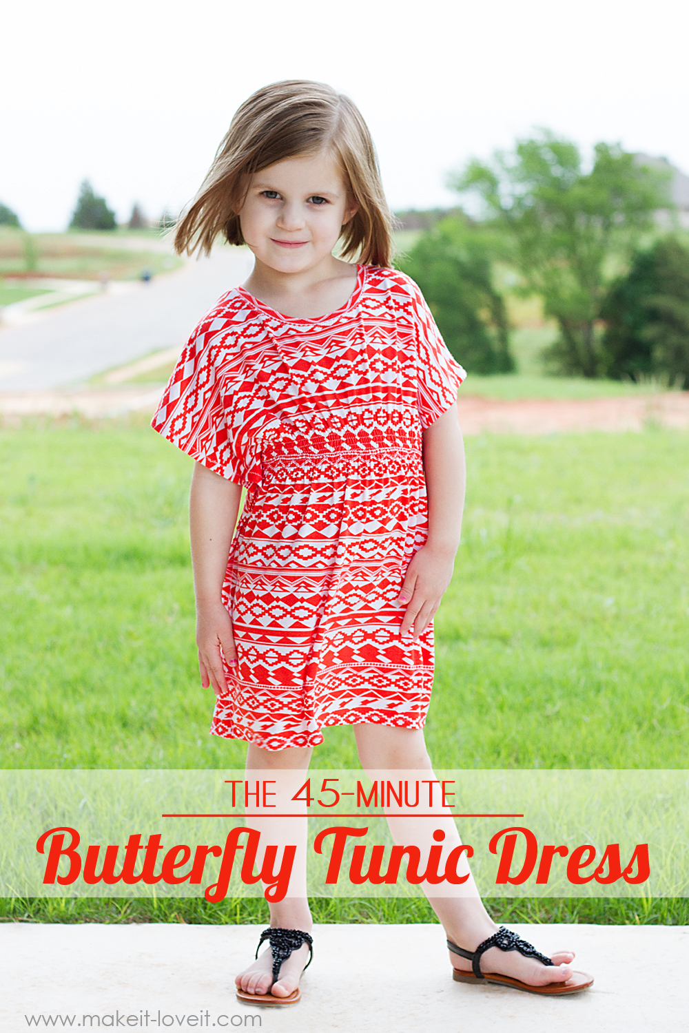 45-minute Butterfly Tunic DRESS from Make it & Love It