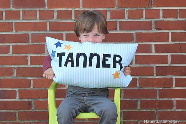 DIY KIDS NAME PILLOW from Haberdashery Fun