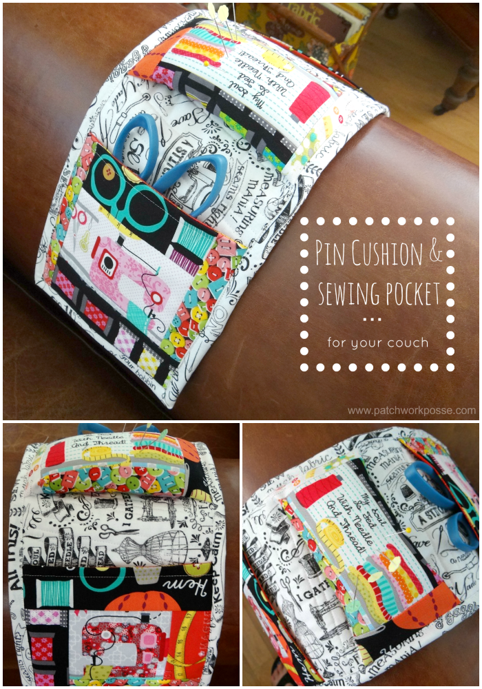 Arm Chair Pin Cushion and Sewing Pocket  from The Patchwork Posse