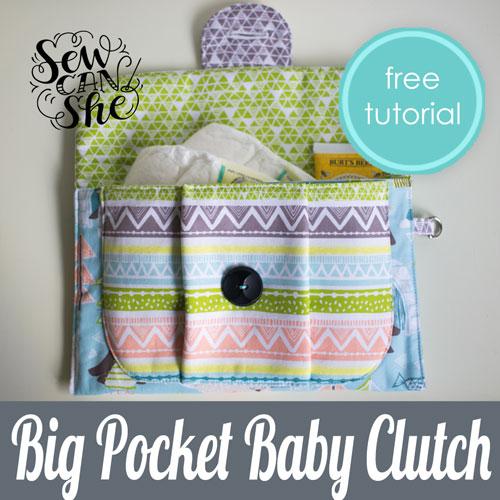 Big Pocket Baby Clutch - sewing pattern.