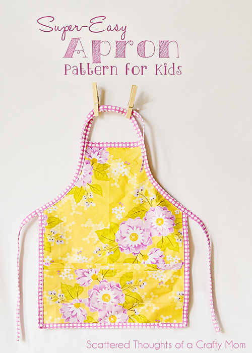 Easy Child's Apron Pattern and Tutorial from Scattered thoughts of a crafty mom