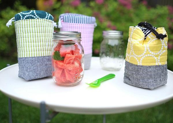 Tutorial: Insulated mason jar bag from Bloglovin'