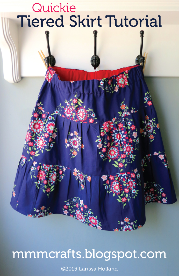 quick tiered skirt tutorial for preteens from mmmcrafts