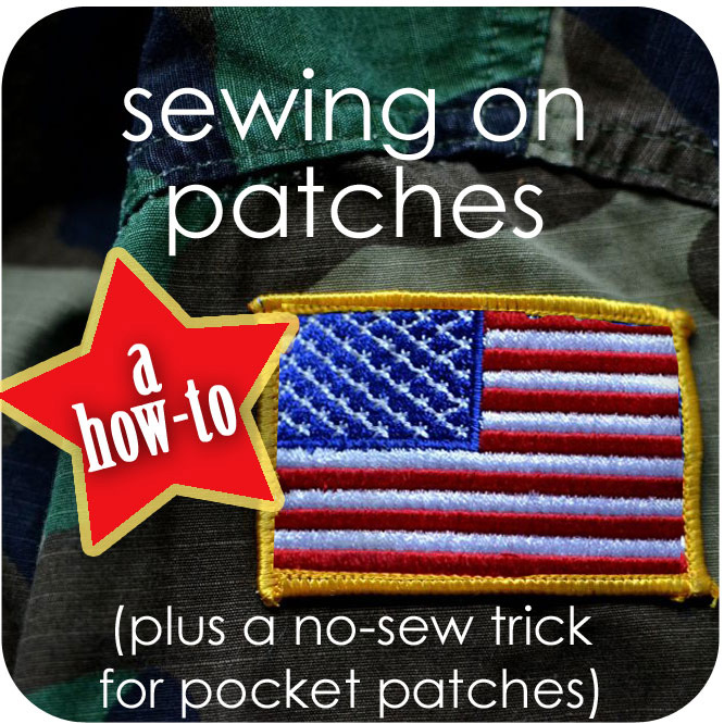 How to Sew on Patches {plus a no-sew trick for pocket patches