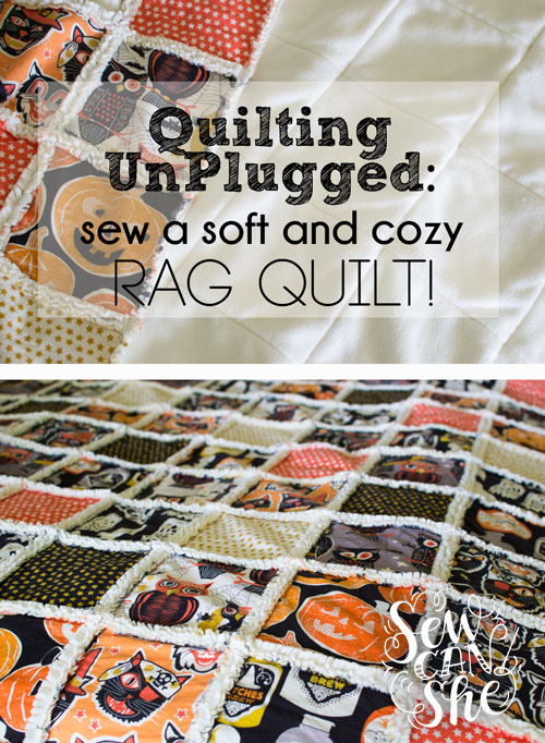 soft and cozy rag quilt tutorial