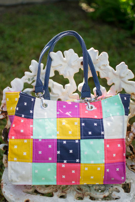 Speedy Patchwork Tote Bags (easy sewing tutorial