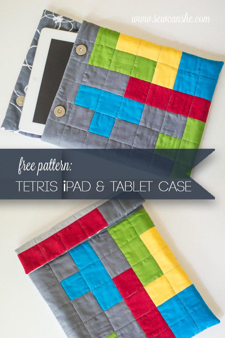 tetris iPad case free pattern
