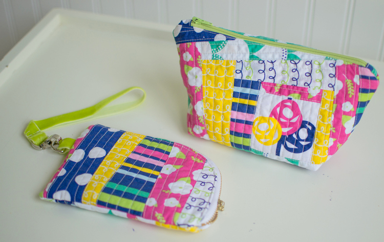 quilt as you go pouches free tutorials