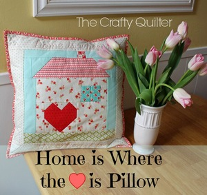 patchwork house pillow free pattern