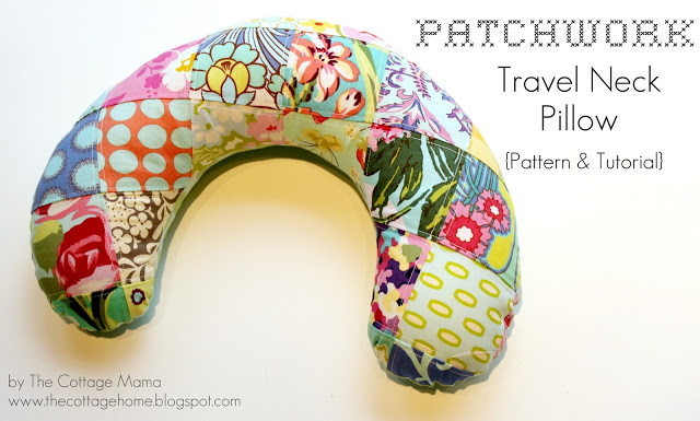 patchwork travel neck pillow sewing tutorial