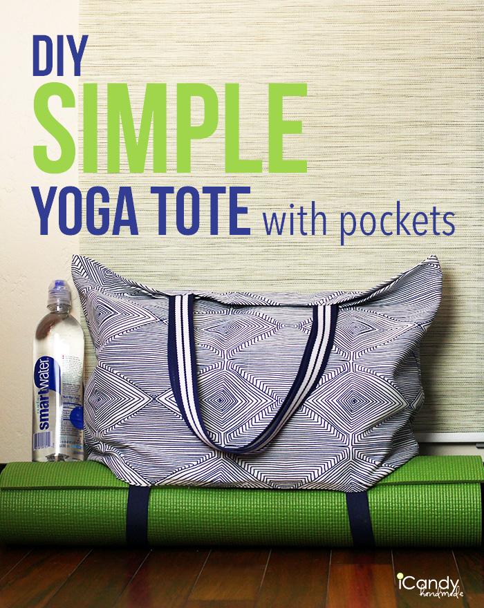 DIY Simple Yoga Tote from iCandy handmade