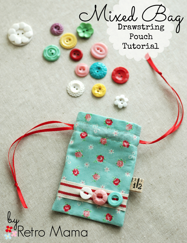Drawstring pouch from Retro Mama