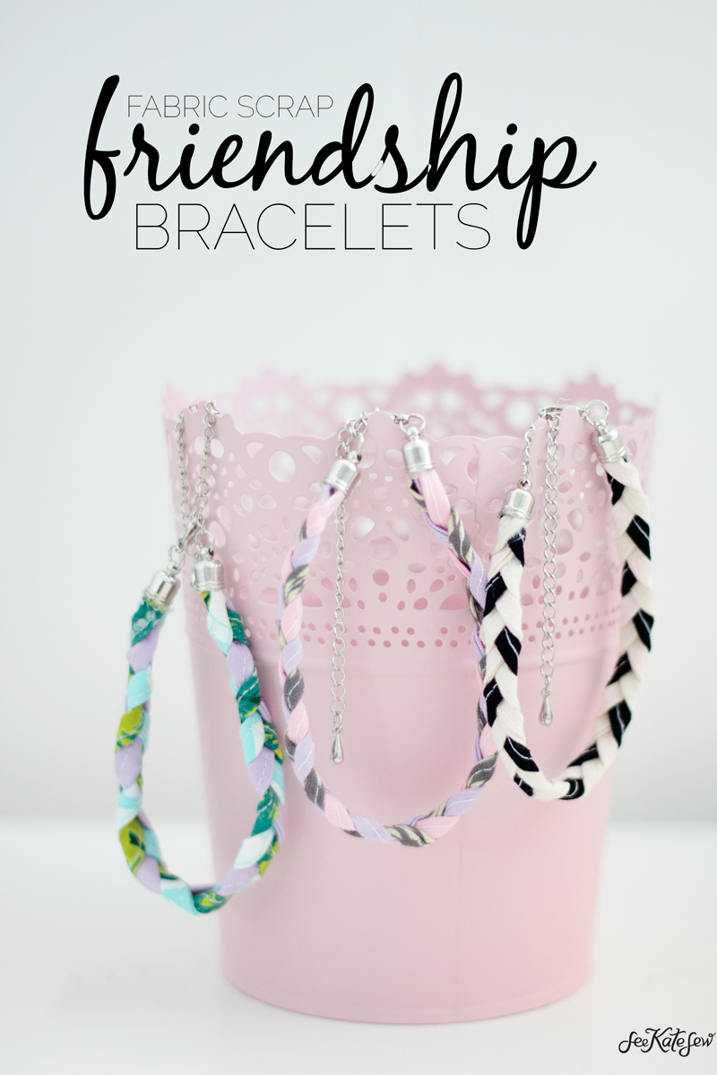Fabric Scrap Friendship Bracelet from Skip To My Lou