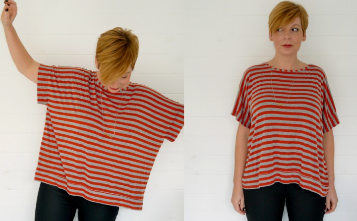boxy cuffed tee from Makery