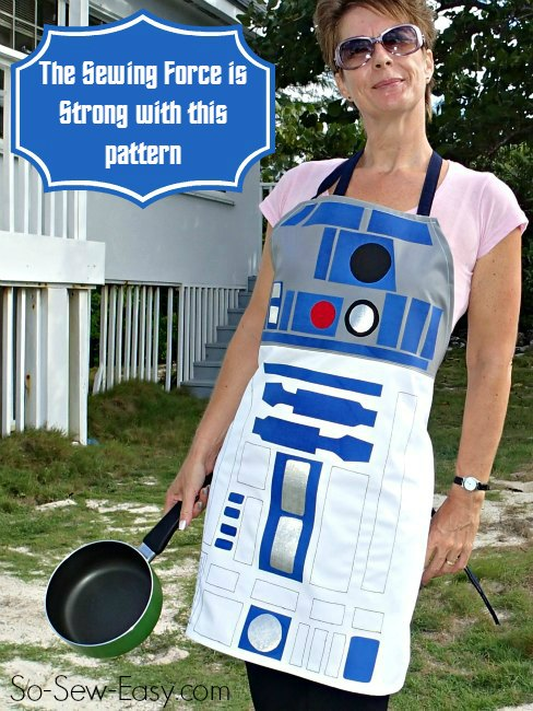R2D2 style apron pattern from So Sew Easy