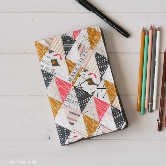 QUILTED SKETCHBOOK COVER TUTORIAL from Radiant Home Studio