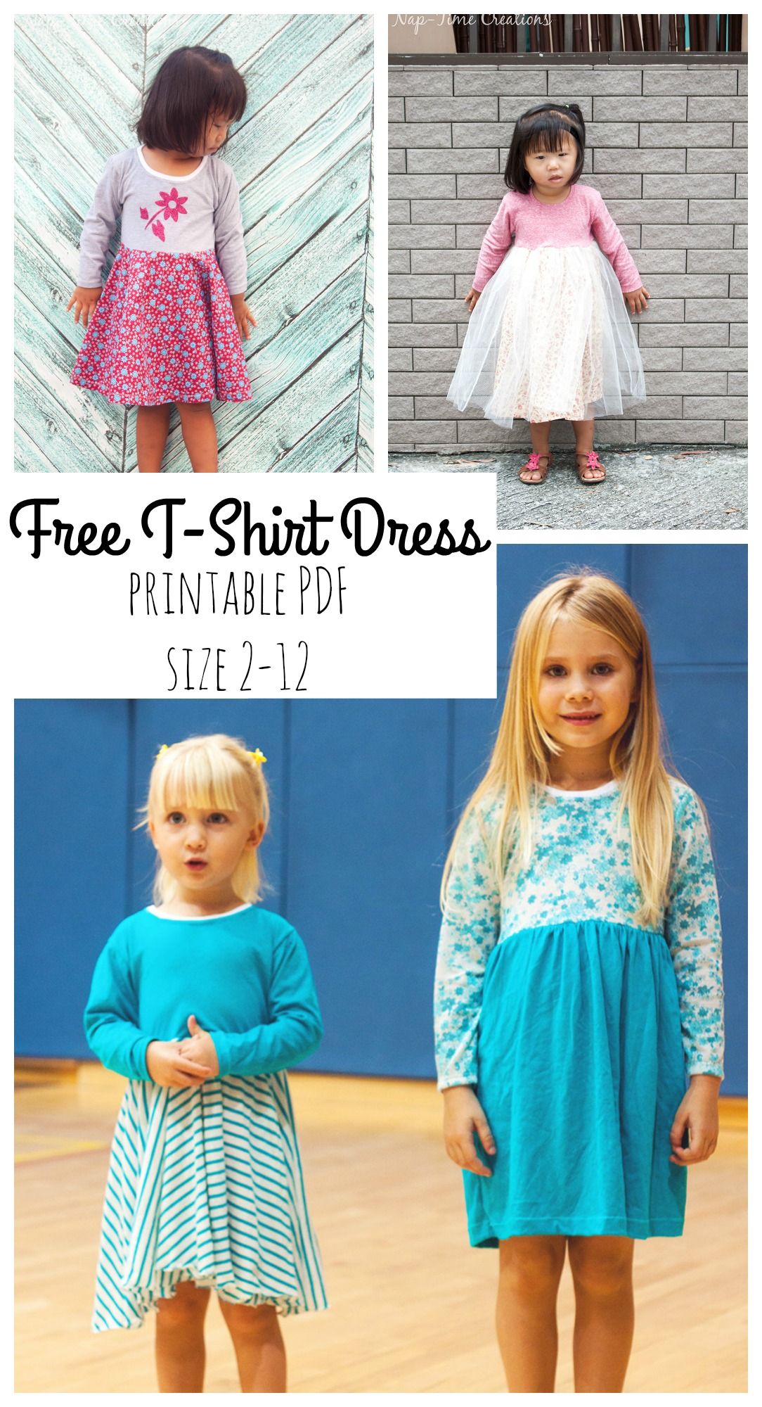 T-Shirt Dress Free PDF Pattern from Naptime Creations