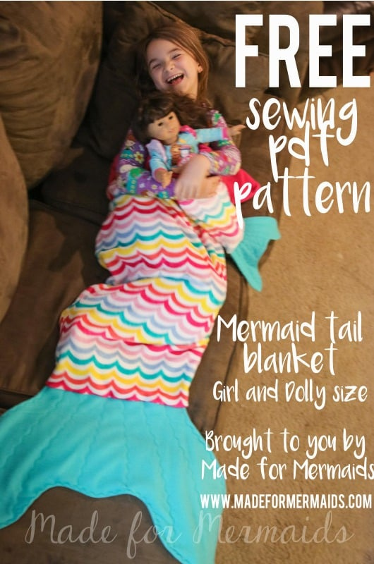 Mermaid tail blanket from Made for Mermaids