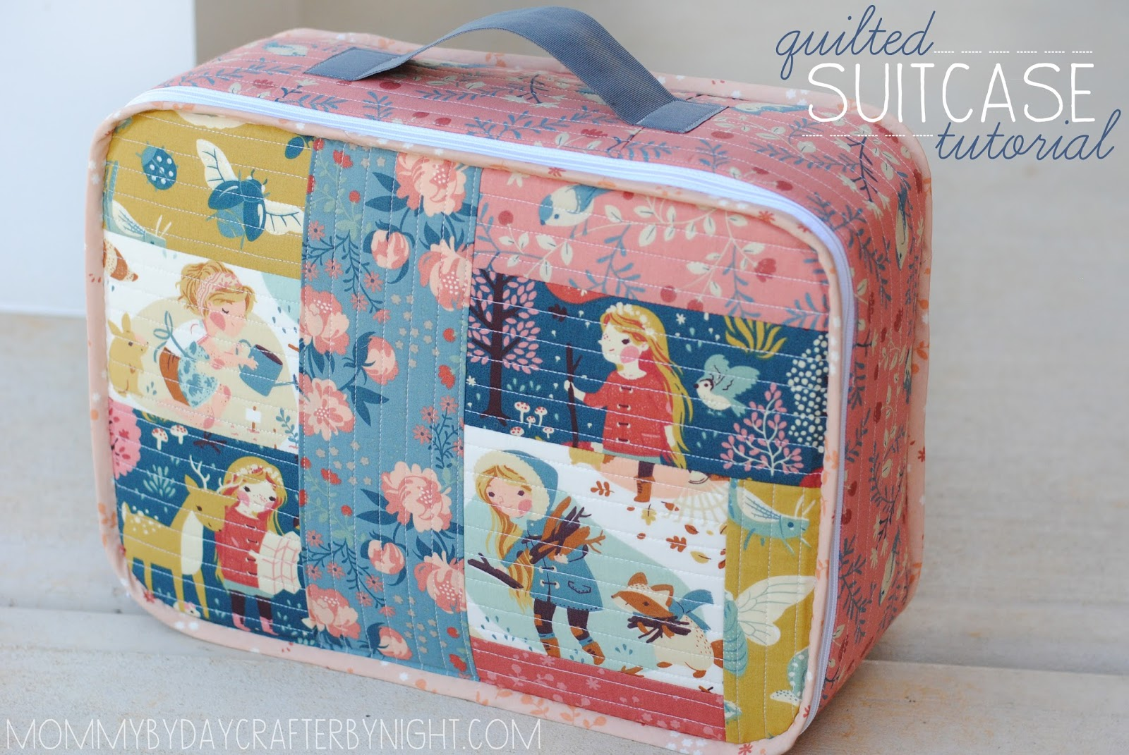 patchwork suitcase