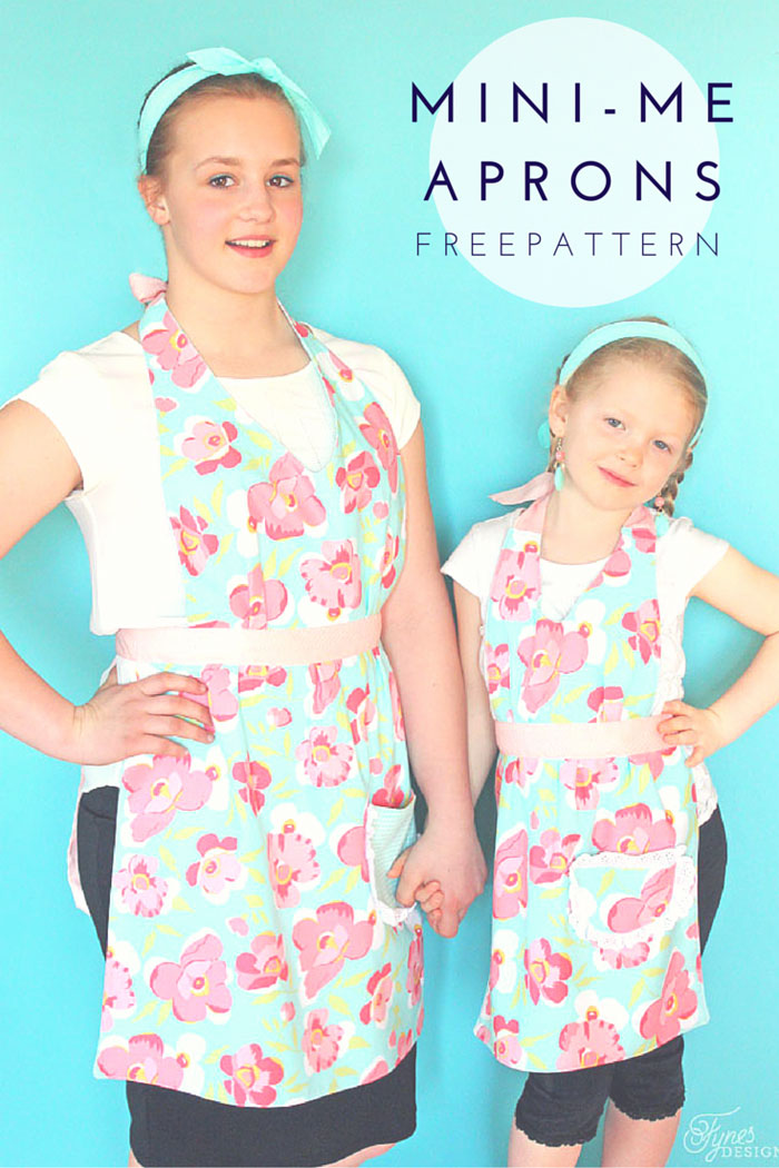 Matching Mom and Child Free Apron Pattern from Fyne Designs