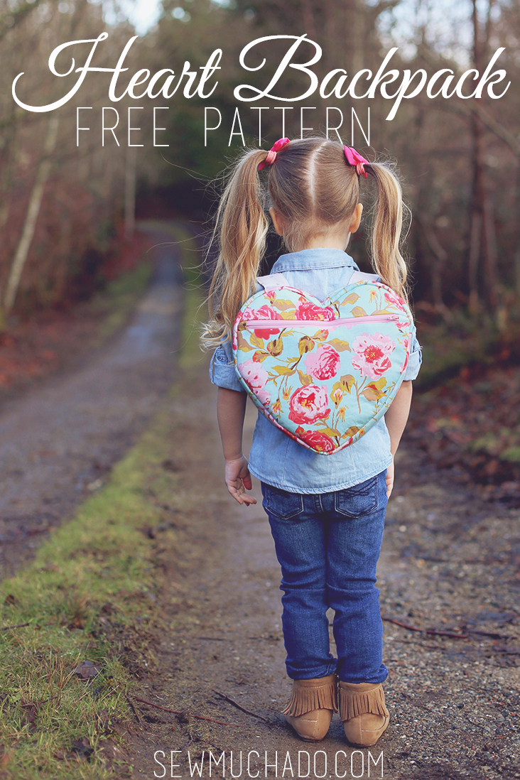 HEART BACKPACK FREE PATTERN from Sew Much Ado