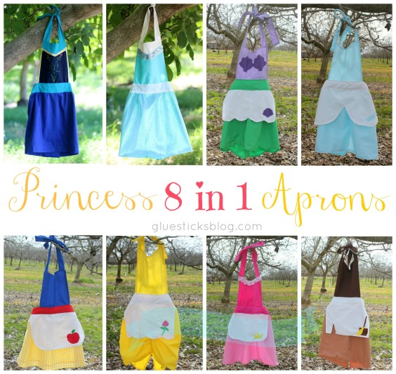 8 in 1 Princess Apron Tutorial from Gluesticks