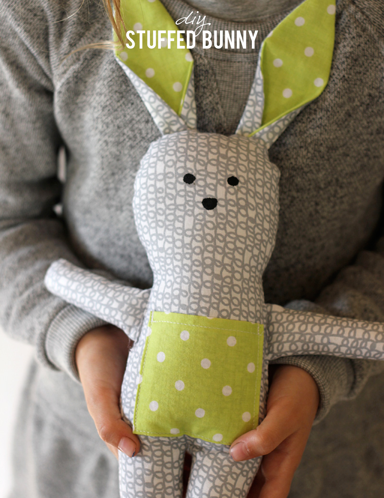 DIY Stuffed Bunny from Alice & Lois