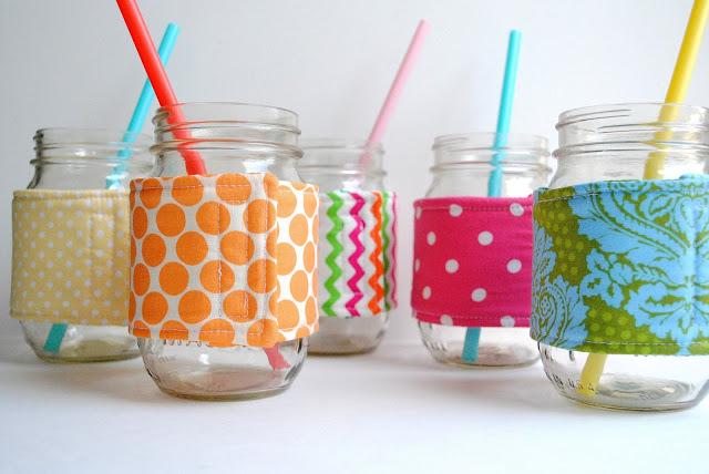 mason jar cozy from a pretty cool life