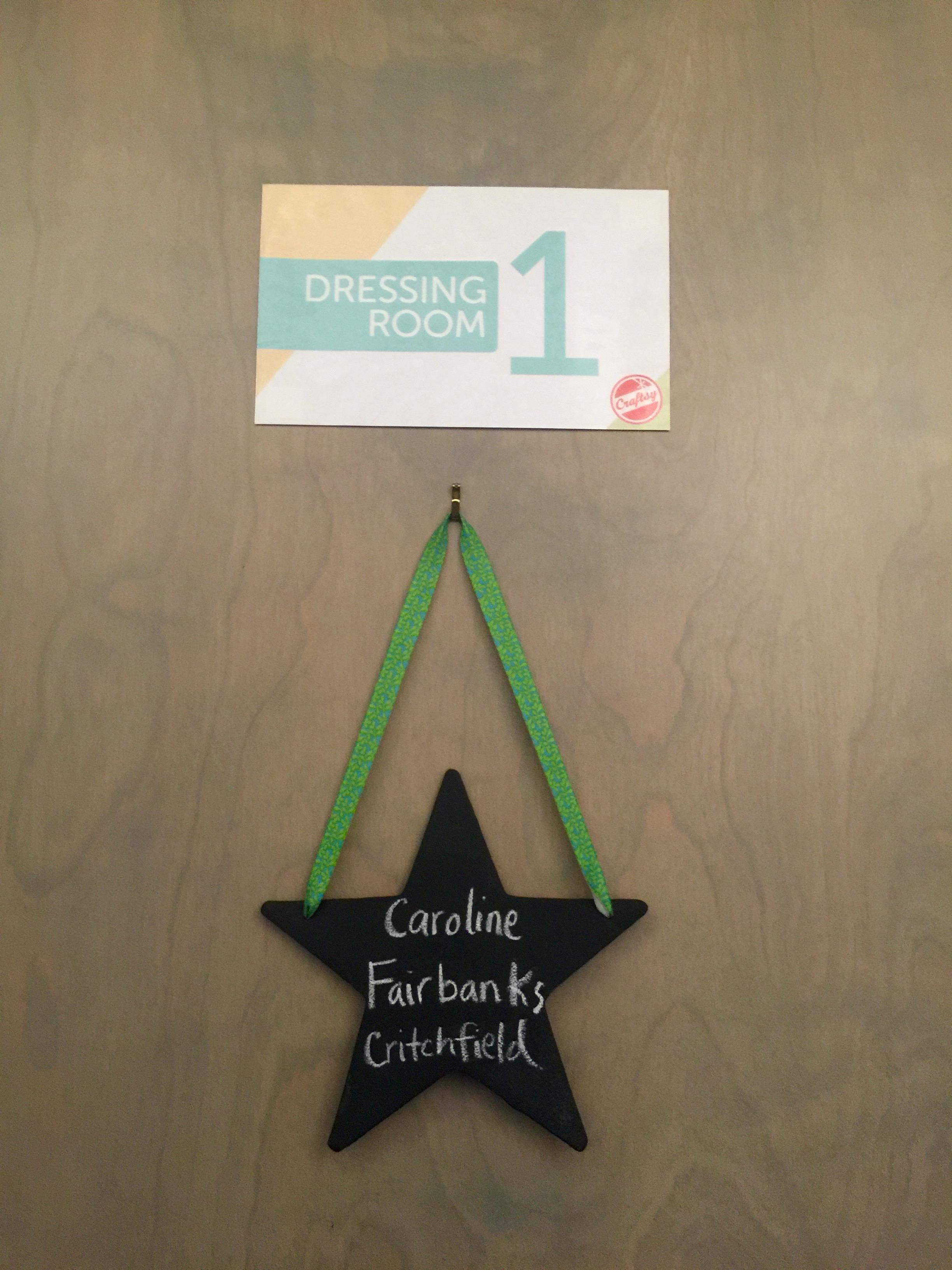 The door to my dressing room. <3