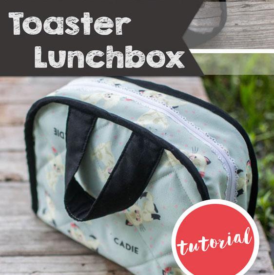 Sew a cute retro shaped lunch box.