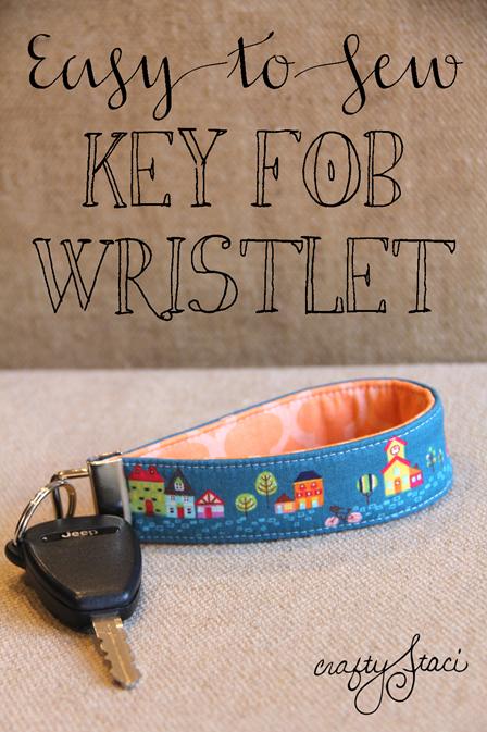 Key Fob Wristlet from Crafty Staci