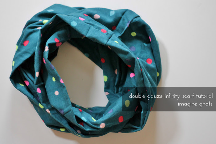 double gauze infinity scarf tutorial from Imagine Gnats