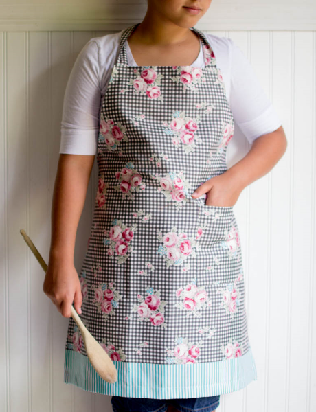 image about Free Printable Apron Patterns named 1 Backyard garden Magic Apron versus Lecien Materials! absolutely free behavior